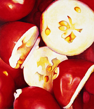 Cranberry, comp. no.3, 180x200 cm, oil on canvas, 2001