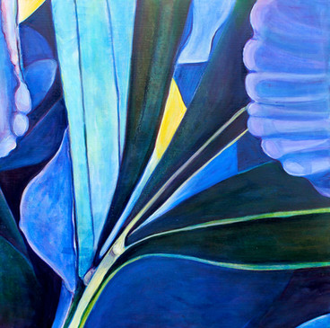 Blue Times, no.4, 120x120 cm, oil on canvas, 2012