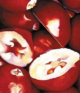 Cranberry, comp. no.2, 170x200 cm, oil on canvas, 2000