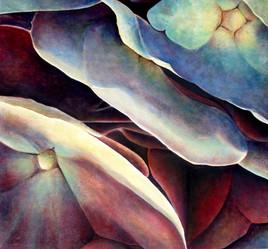 Hydrangea, comp. no.5, 193x195 cm, oil on canvas, 2004