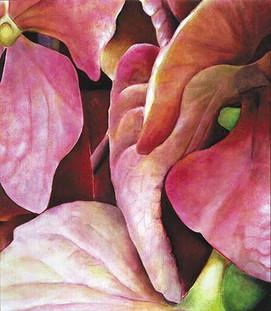 Hydrangea, comp. no.1, 170x200cm, oil on canvas, 2002