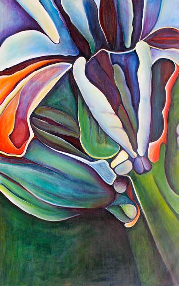 Blue Times, no.2, part 1, 120x190 cm, oil on canvas, 2012