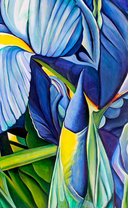 Blue Times, comp. no1, 115x190 cm, oil on canvas, 2012