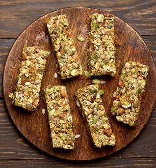 mixed seed granola snack bar