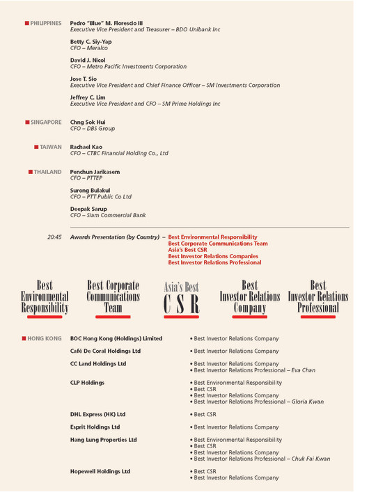 4thAsianExcellenceAward2014PROGRAMME_Pag