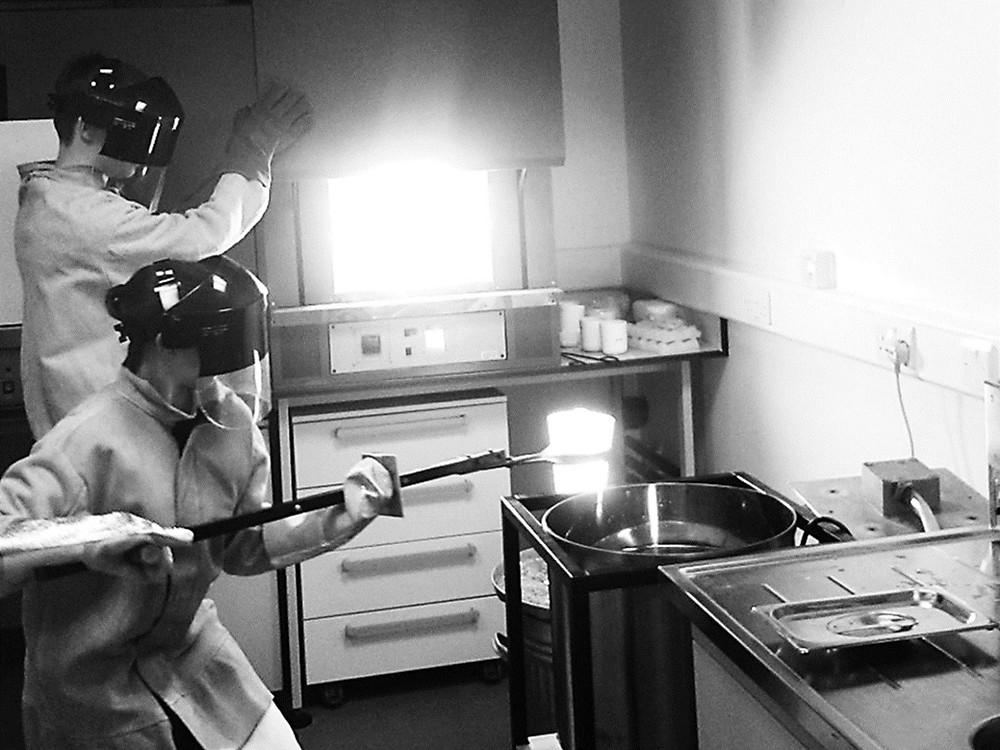 Making bioactive glass designed for bone regeneration at 1450C - Sam Hollings