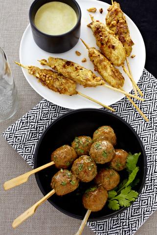 chicken satay and coriander balls Skewers 68905.jpg