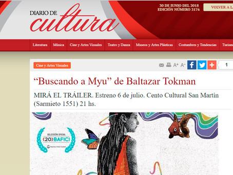 """Cine y Artes Visuales """"Buscando a Myu"""" de Baltazar Tokman"""