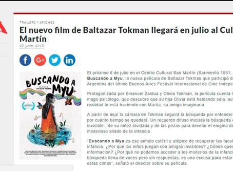 Fun Cinema El nuevo film de Baltazar Tokman llegará en julio al Cultural San Martín