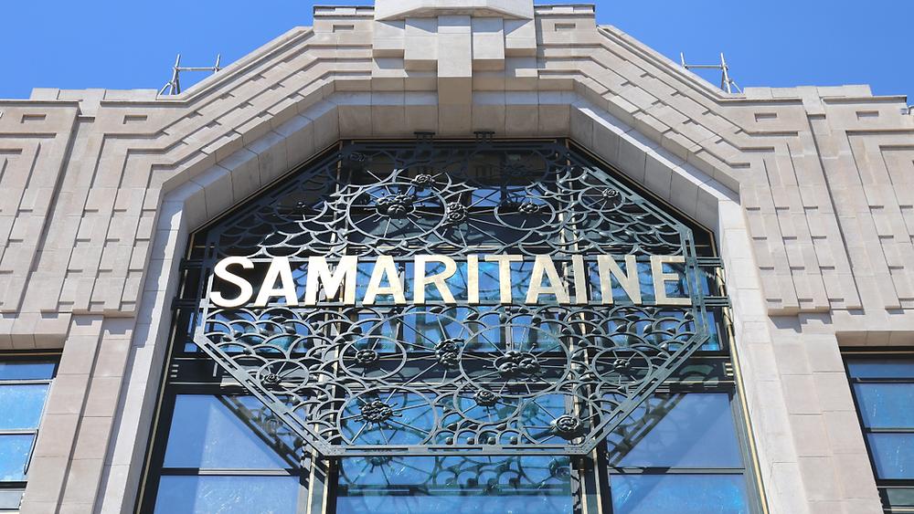L'enseigne de la Samaritaine sur le bâtiment Art déco d'Henri SAUVAGE