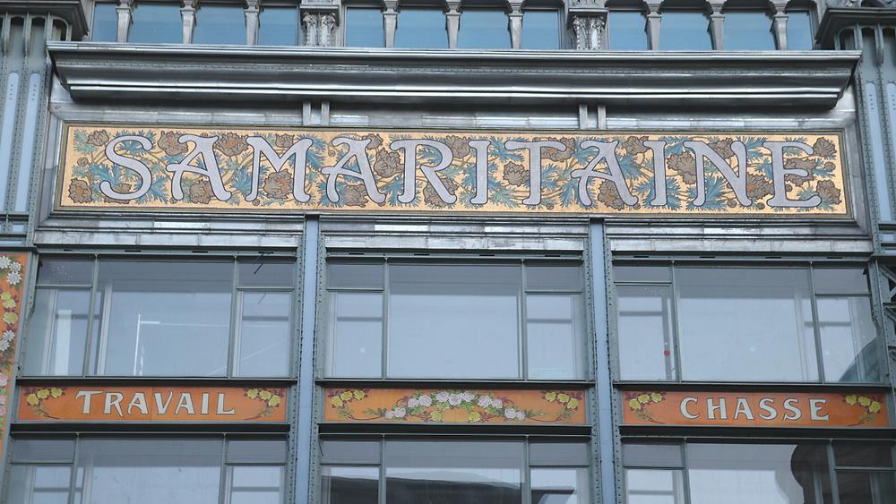 L'enseigne de la Samaritaine sur le bâtiment Art nouveau de Frantz JOURDAIN