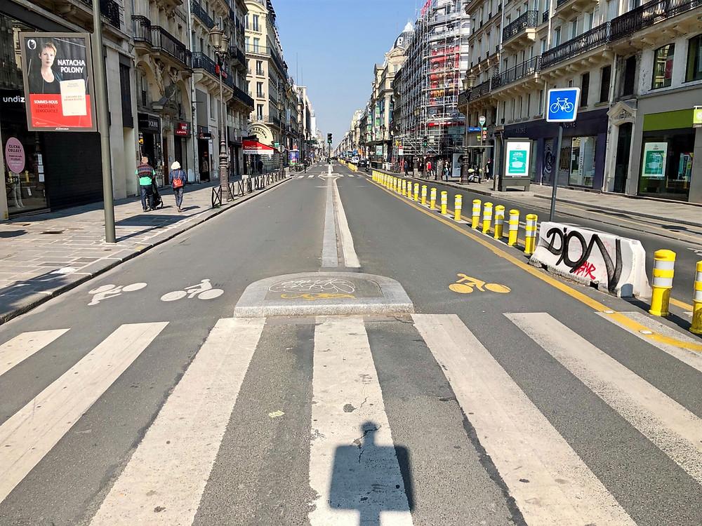 La rue de Rivoli le 20 avril 2021