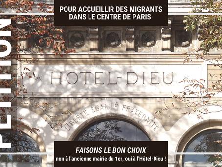 Faisons le bon choix pour accueillir des migrants dans le centre de Paris : l'Hôtel-Dieu