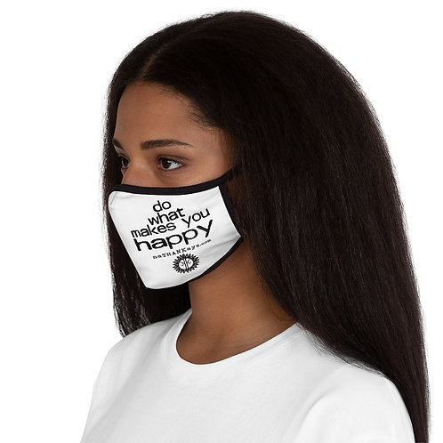"""""""Do What Makes You Happy"""" Fitted Polyester Face Mask (USA)"""