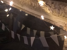Wire Lights and Paper Bunting ready for Autumn
