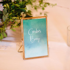 Frames for table names & Numbers