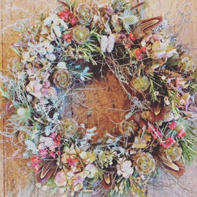 Scabiosa wreath