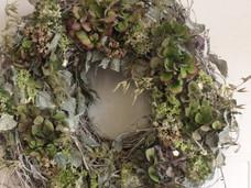 Hydrangea Hop Wreath