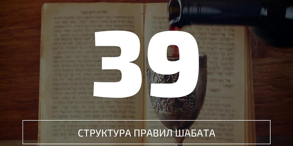 Бейт мидраш: 39, структура шабата {старт}