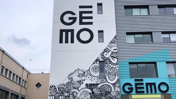 Siège Gémo - Composition de motifs