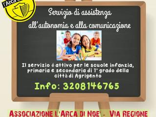 Servizio gratuito di assistenza all'autonomia e alla comunicazione per gli alunni delle scuole d