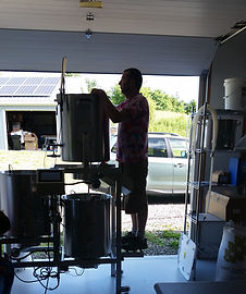 picture of Kurt using the pilot brew system