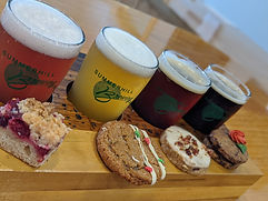 A beer and cookie flight