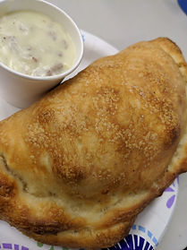 Breakfast Calzone with Sausage Gravy