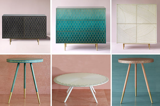 Bethan Gray collection produced by the skilled furniture manufacturers in Muscat, Oman