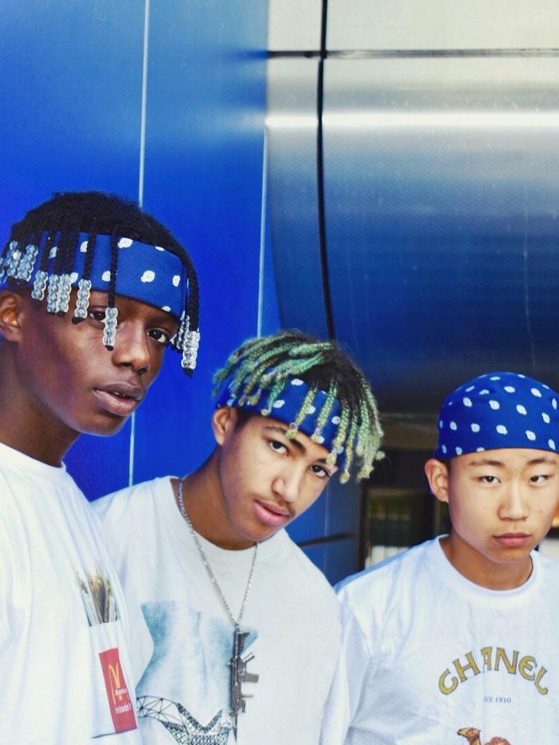 blue bandana, simplemax, hairstyle, bandana men