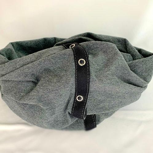 grey snap scarf