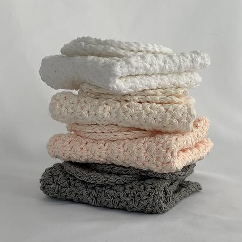 Reusable Crochet Facial Rounds and Washcloths Set