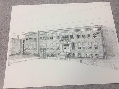 Print of Antioch High School (1933) by Joshua Pappas