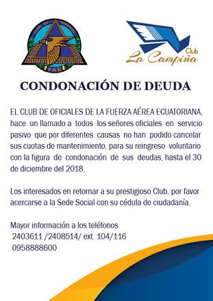 CONDONACIÓN DE DEUDA