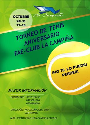 TORNEO DE TENIS ANIVERSARIO                    FAE-CLUB LA CAMPIÑA