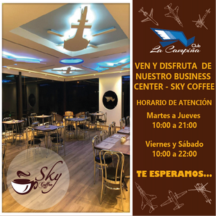 VEN Y DISFRUTA DE NUESTRO BUSINESS CENTER - SKY COFFEE
