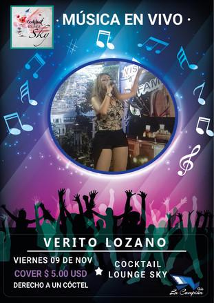 Música en Vivo con Verito Lozano en el Cocktail  Lounge Sky