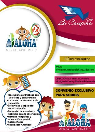 NUEVO CONVENIO EN BENEFICIO DE NUESTROS SOCIOS CON ALOHA