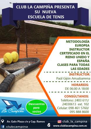 Club La Campiña presenta su nueva Escuela de Tenis