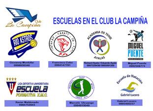 ESCUELAS  EN EL CLUB LA CAMPIÑA