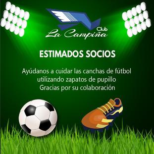 Ayúdanos a cuidar las canchas de Fútbol