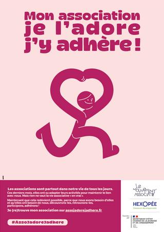 Campagne « Mon association, je l'adore, j'y adhère ! »