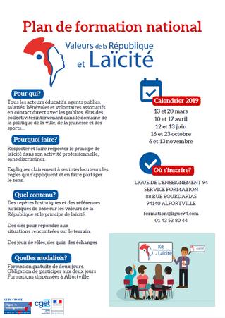 Plan National Valeurs de la République et Laïcite
