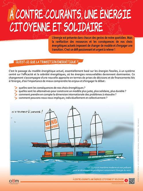 A contre courant, une énergie citoyenne et solidaire