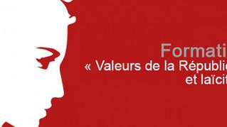Formation Valeurs de la République et Laïcité  - Inscrivez-vous !