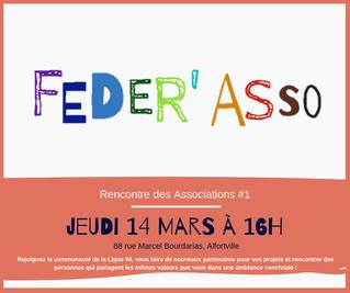 Feder'Asso - jeudi 14 mars de 16h à 18h