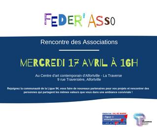 FEDER' ASSO - Rencontre du 17 avril !
