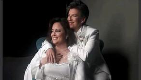 Claudia López y su matrimonio con la Senadora Angélica LozanoPrueban su traje de matrimonio