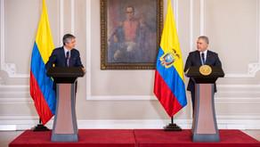 El presidente electo de Ecuador, Guillermo Lasso, visita Bogotá