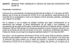 Colombia pico y cedula para transporte público en sitios con ocupacion UCI mayor al 80%.